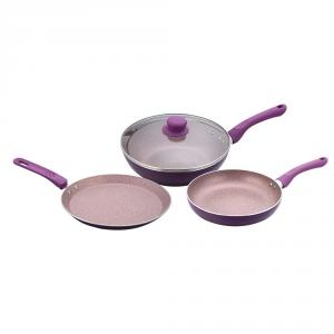 Wonderchef Royal Velvet Plus Purple Aluminium Cookware Set