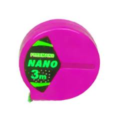 Freemans Nano Pink Steel Tape Rules without Lock, Length: 3 m, Width: 13 mm