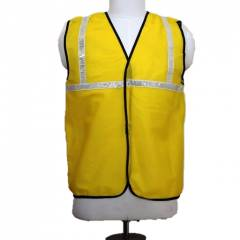Nova Safe 2 Inch Yellow Net Reflective Safety Jacket, Thickness: 65 GSM