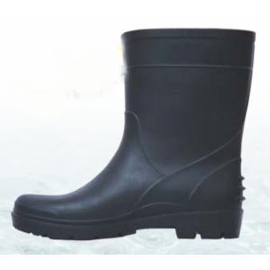 Fortune PVC Black Gold Gumboots, Size: 10 (Pack of 5)