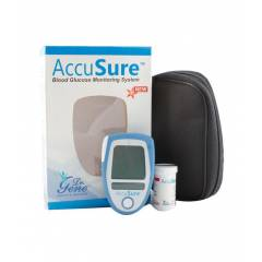 Accusure Blue Glucose Monitor with 25 Blood Glucose Test Strips