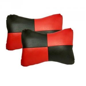 G-King leather Red Car Neck Rest Pillow Set For Chevrolet Beat