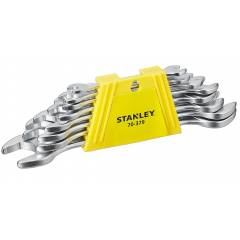 Stanley 8 Pieces CRV Steel Double Ended Open Jaw Spanner Set, 70-379E