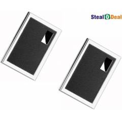 Stealodeal High Quality Leather Design Card Holder (Pack of 2)
