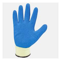Mallcom 7 Inch Blue Latex Safety Gloves, L210B (Pack of 4)