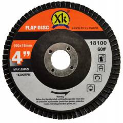 Xtra-Kut 100mm 60 Grit Flap Disc (Pack of 20)