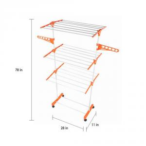 Kawachi Power Mild Steel Cloth Drying Stand, 132