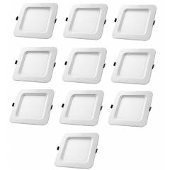 Aaditya ADIPSQR5-10 5W Square LED Panel Light (Pack of 10)