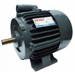 MXVOLT 1 HP 4 Pole Single Phase Cast Body Foot Mounted Induction Motor