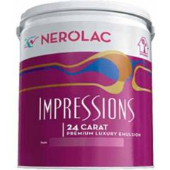 Nerolac Impressions 24 Carat Premium Luxury Emulsion Paint,Winter White-10L