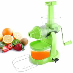 SM Pro-Grand Green Manual Hand Fruit Juicer with Waste Collector