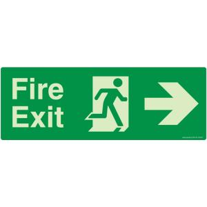 Safety Sign Store Fire Exit Right Sign Board, NG109-1029AL-01