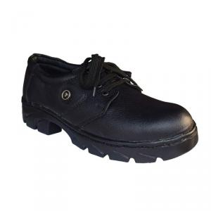 JK Steel JKPDOLOR Steel Toe Black Safety Shoes, Size: 8