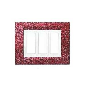 Benlo 8 Module Red Granite Vesta Combination Plates, BS S1906 (Pack of 10)