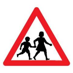 Asian Loto 3 mm Safety Sign School Zone Sign Board, ALC-SGN-22-900