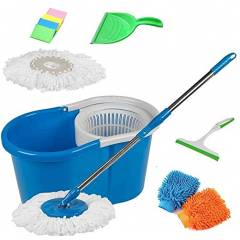 GTC 360 Degree Spin Mop with 2 Microfiber Heads