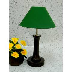 Tucasa Fashionable Wooden Table Lamp with Green Shade, LG-1010