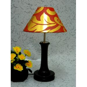 Tucasa Fashionable Wooden Table Lamp with Red & Gold Shade, LG-1000
