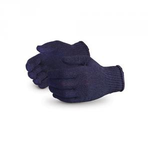 SRJ 90 GSM Blue Cotton Knitted Hand Gloves (Pack of 100)