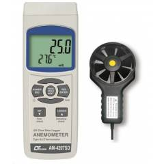 Lutron AM-4207SD Digital Anemometer with Fan Type Sensor & SD Card