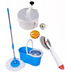 Navisha Assorted Steel Mop with Free Dough Maker & Pizza Cutter, MOP0602