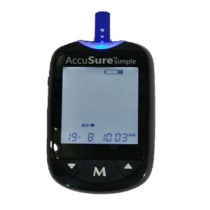 Accu Sure Simple Blood Glucose Monitor with 25 Strips