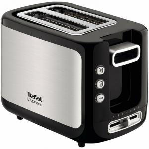 Tefal Express 850W Metallic Grey & Black Pop Up Toaster