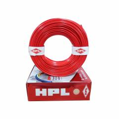 HPL 6 Sq mm Red Single Core FRLS Wire, Length: 200 m