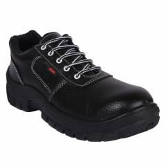 Prima PSF-22 Eon Steel Toe Black Safety Shoes, Size: 6