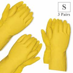 Healthgenie Flocklined House Hold Glove Small (Pack of 3)