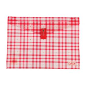 Saya Red Clear Bag Superior, Dimensions: 340 x 15 x 350 mm, Weight: 52 g (Pack of 6)