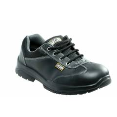 JCB Supermax Steel Toe Black Safety Shoes, Size: 6