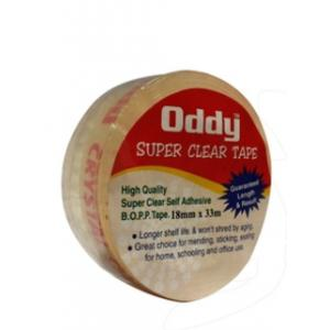 Oddy 18mm Super Clear Stationary Tape, SCT-1833 (Pack of 12)