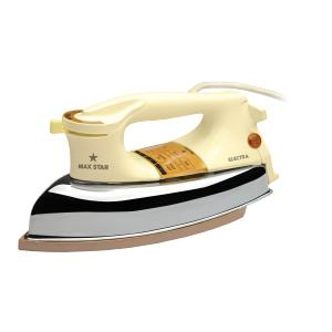 Max Star Electra 1000W Heavy Weight Dry Iron, DI05