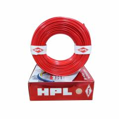 HPL 6 Sq mm Red Single Core Unsheathed Household Wire, Length: 90 m