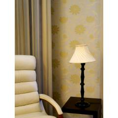 Tucasa Table Lamp with Pleated Shade, LG-107, Weight: 800 g