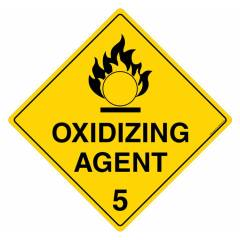 Safety Sign Store Oxidizing Agent 5 Sign Board, HW103-600PC-01