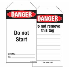 Safety Sign Store Danger: Do Not Start Sign Board, ST934-714NT-01, (Pack of 25)