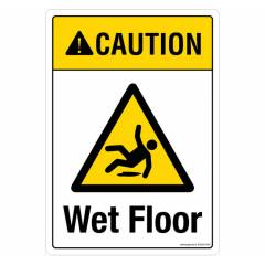 Safety Sign Store Caution: Wet Floor Sign Board, SS236-A4PC-01