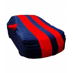 Autolane Matty Fabric Red & Blue Car Body Cover For Fiat Abarth