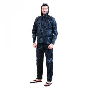 Safies Black Polyester Raincoat, Free Size