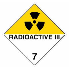 Safety Sign Store Radioactive-Iii 7 Sign Board, HW303-600PC-01