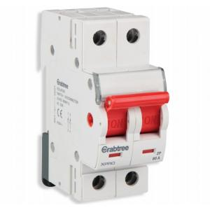 Crabtree Xpro 80A Double Pole Higher Rating Isolator, DCMFODPX080