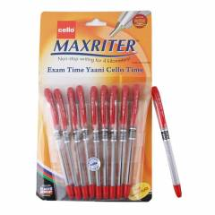 Cello Maxriter Red Ball Point Pen (Pack of 10)