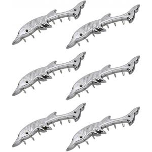 Abyss ABDY-0941 Chrome Finish Stainless Steel Antique Dolphin Design Hooks (Pack of 6)