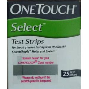 Johnson & Johnson One Touch Select Test Strips (25 Strips)