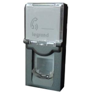 Legrand Arteor 1 Module Category 5e-UTP Square Magnesium Information Socket, 5736 29 (Pack of 20)