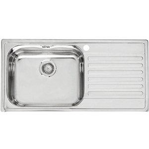 Carysil Vogue Series Gloss Finish Stainless Steel Kitchen Sinks, 36x18x8, Dimensions: 914 x 457 mm