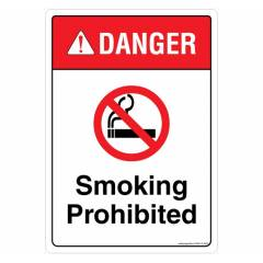 Safety Sign Store Danger: Smoking Prohibited Sign Board, SS413-A4AL-01