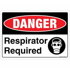 Safety Sign Store Danger: Respirator Required Sign Board, SS832-A3AL-01